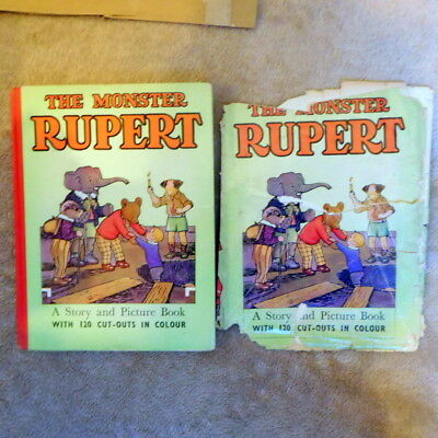 Vintage Rupert Bear The Monster Rupert book great condition old collectable D/W