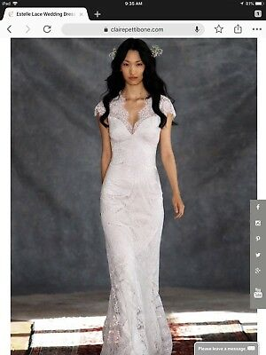 claire pettibone size 10 estelle wedding dress