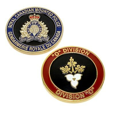 """RCMP Police Challenge Coin """"O"""" Division Unit Royal Canadian Mounted Police"""