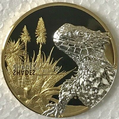 COOK ISLANDS $5 2018 Shades of Nature SUNGAZER LIZARD - Proof Silver Coin - OGP