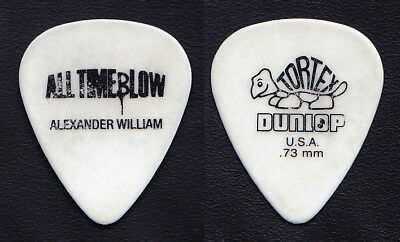 All Time Low Alex Gaskarth Alexander William White/Black Guitar Pick - 2010 Tour
