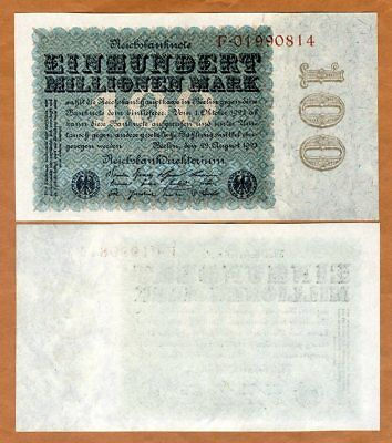 Germany, 100,000,000 Mark, 1923, P-107a, UNC