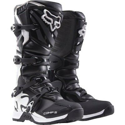 FOX Comp 5 Boots - Black/White Sale Motocross Off road Adult sizes