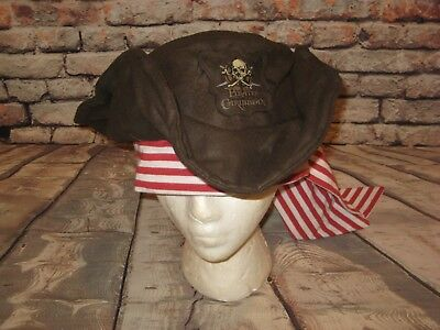 Disney Parks Pirates Of The Caribbean Hat Pirate Cap With Bandana Youth Size
