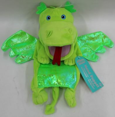 Green Dragon Hand Puppet Latex Fancy Dress Accessory Novelty Glove Toy Prop