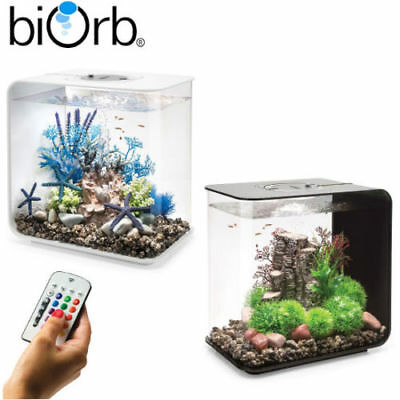 Biorb Flow 15 30 MCR LED Colour Change Black White Aquarium Fish Tank