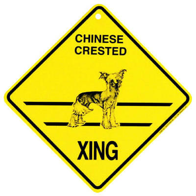 Chinese Crested Xing Sign, Assorted Dogs by KC Creations