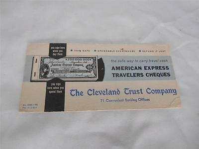 Old Vtg CLEVELAND TRUST Co INK BLOTTER 71 Convenient Banking Offices Advertising