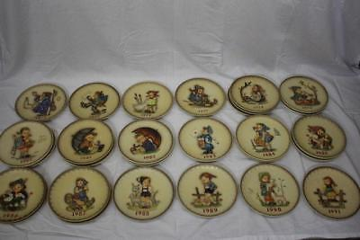 Complete Set of Hummel Annual Collector Plates -- 1971 to 1995 (No Boxes)