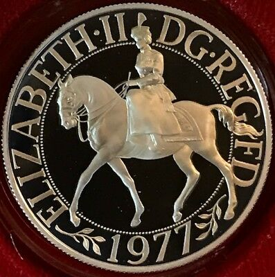 GREAT BRITAIN - 25 New Pence 1977 KM# 920a .925 Sterling Silver Crown  GEM PROOF