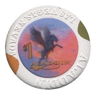 Aladdin $1 Casino Chip Las Vegas Nevada Obsolete Old