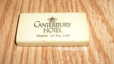 Antique Vintage Matches Match Box CANTERBURY HOTEL Indianapolis, IN - Unused