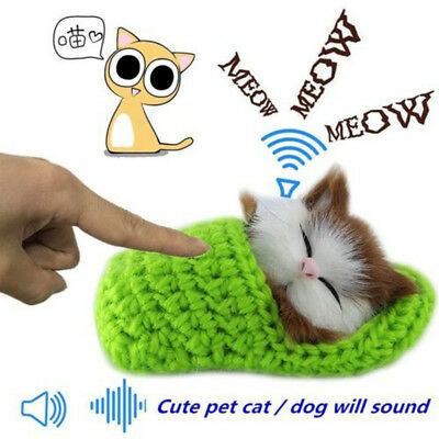 Funny Kitty Lifelike Cute Plush Cat Soft Doll Sound Toys Kids Gift Home Supplies