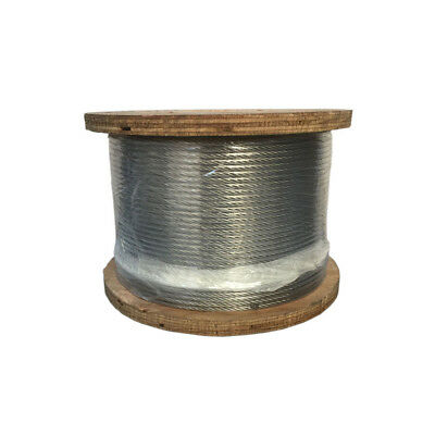 """250 Ft Feet Grade SS 316 STAINLESS STEEL 3/16"""" 1x19 Cable Rail Railing Wire Rope"""