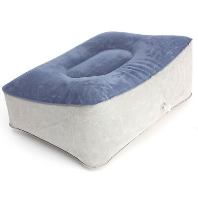 Inflatable Foot Rest Pillow Pad Cushion Relax Travel Reduce DVT Risk Footrest