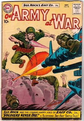 Our Army at War # 98 Strict VG Artist Joe Kubert, Sgt.Rock and Easy Co.