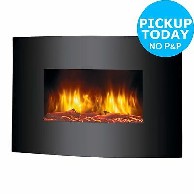 Beldray Palma Curved Electric Wall Hung Fire