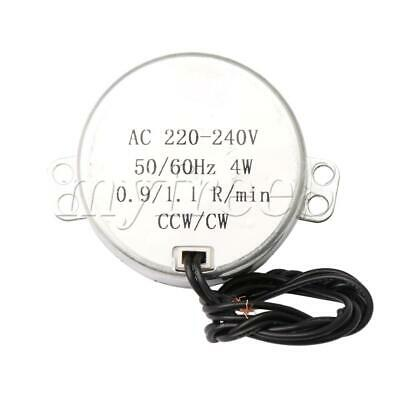 Turntable Synchronous Motor AC 220V 4W 0.8-1RPM CCW/CW Flat Shank for Heater