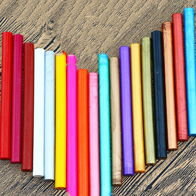 Colorful Sealing Wax Stick Rod Glue Gun Seaing Stamp Wedding Party Card Tools