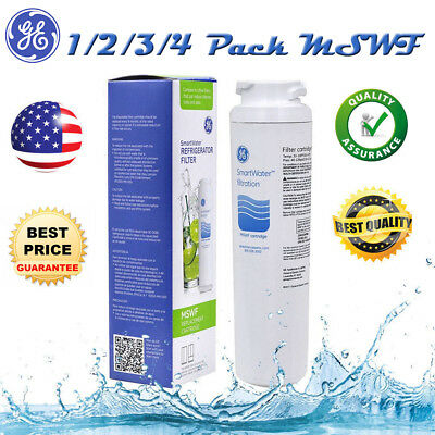 1 To 4 Pack SmartWater Genuine GE MSWF Refrigerator Water Filter Cartridge US