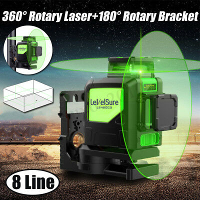 Laser Level 8 Lines Green Self Leveling 3D 360° Horizontal Vertical With Tripod