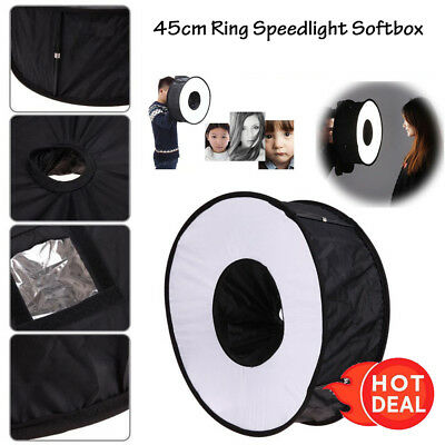 45CM Softbox Flash Ring Light Speedlight For Canon Nikon Camera Accessories USA