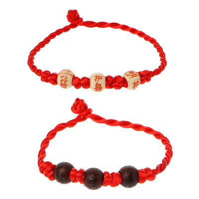 Kabbalah Red String Braided Bracelet Protection for Good Luck Amulet Jewelry