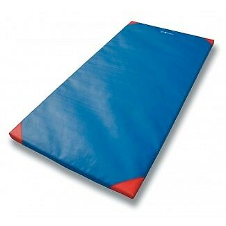 Sure Shot Deluxe Gymnastic Floor Exercise Lightweight Wipe Surface Flat Mat Blue