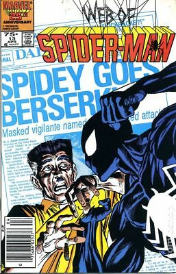 Web of Spider-Man (1st Series) #13 1986 VG Stock Image Low Grade