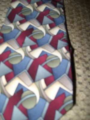 USA 100% Imported Silk Cocktail Collection By Stonehenge Tie Mens Necktie GC
