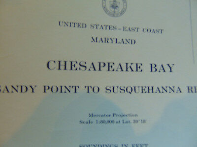 Waterways Chesapeake Bay Sandy Point Susquehanna River nautical chart US Coast