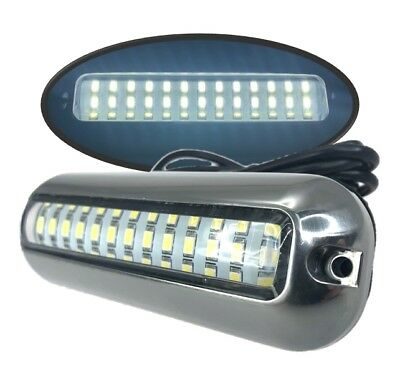 Pactrade Marine 2PCS Pontoon Boat S.S.316 Cool White LED Underwater Light 416 LM