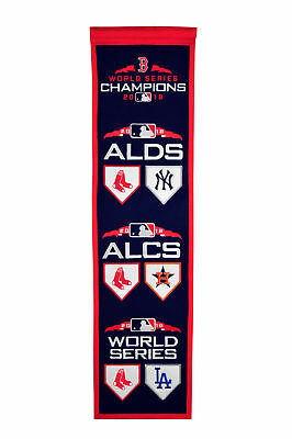 c88a6088762 Boston Red Sox 2018 MLB World Series Road to Championship Champs Heritage  Banner