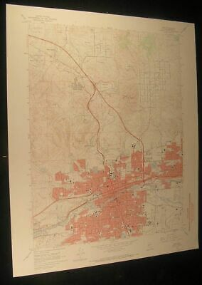 Reno Nevada Raleigh Heights Sparks 1971 vintage USGS original Topo chart map