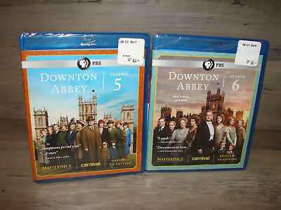 Downton Abbey Season 5 & 6 (Blu-ray) 5th & 6th Seasons  ***NEW SEALED***