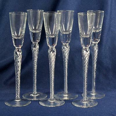 """Double Air Twist Cordials 8-3/4"""" Set Of 6"""