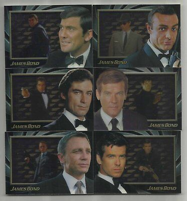 2012 James Bond 50th Anniversary: Series 1 & 2 Set of 6 SHADOWBOX Cards (S1-S6)
