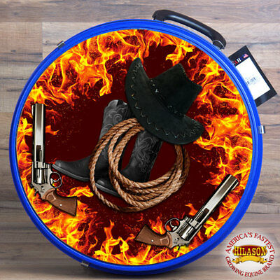 Medium Hilason Horse Royal Molded Heavy Duty Abs Rope Can Flames Cowboy Leather