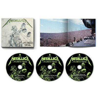 Metallica ...And Justice For All Remastered 3CD Embossed & Debossed Expanded