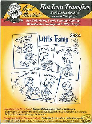 Little Tramp Aunt Martha's Hot Iron Embroidery Transfer Designs #3834