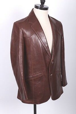 Vtg Remy Buttersoft Leather Blazer Coat Jacket Made In Usa Mens Size 42