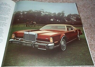 1974 Lincoln Continental & Mark IV Deluxe Brochure