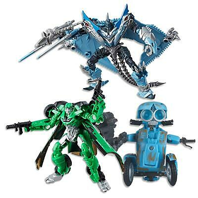 """Transformers The Last Knight - 5.5"""" Sqweeks Autobot + Strafe + Crosshairs Toys"""