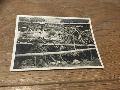 Vintage Black And White Photograph Of Bicycles 3in x 4in