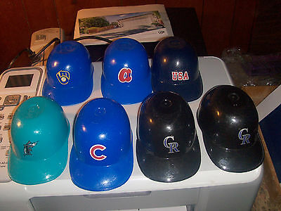 Vintage Dairy Queen Sundae MLB Helmets Lot of 7