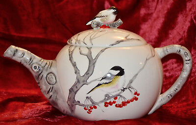 Tea Pot Global Design Connections Kate Williams Birds Bird Winter