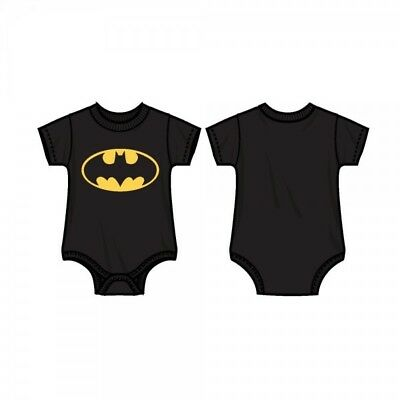DC Comics Batman Logo Infant Toddler Kids Black Snap Bodysuit One Piece