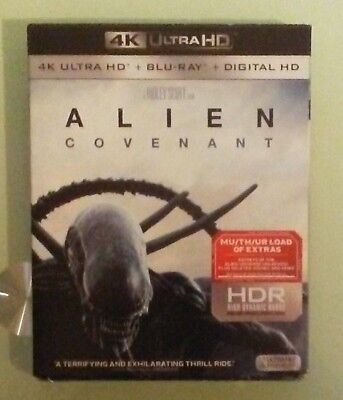 ALIEN COVENANT   4K ULTRA HD / BLU RAY  NEW slipcover creases edge scuffing