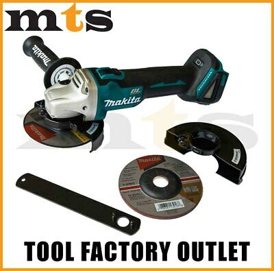 "Makita 18V Brushless Angle Grinder Cordless 125mm 5"" XAG04"