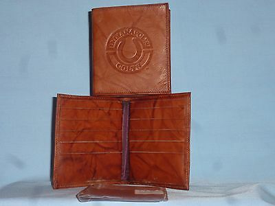INDIANAPOLIS COLTS  Leather BiFold Wallet  NEW brown hp